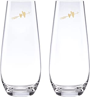 Kate Spade New York 883387 Two Hearts champagne glass