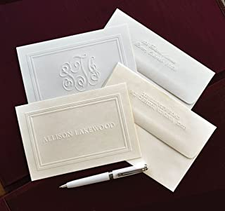 personalized embossed note cards