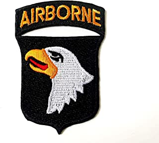 Tyga_Thai Brand 101st Airborne Screaming Eagle Logo DIY Sewing on Iron on Embroidered Applique Patch (IRON-101ST-AIRBORNE)