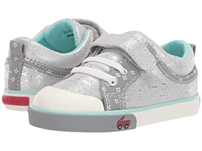 See Kai Run Kids Kristin (Toddler/Little Kid) (Silver Leather) Girls Shoes