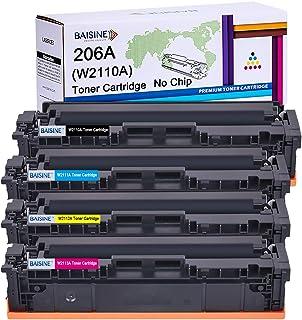 BAISINE 206A W2110A W2111A W2112A W2113A Compatible Toner Cartridge Replacement for HP Color Laserjet Pro M255dw MFP M283f...