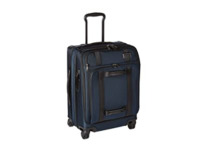 Tumi Merge Continental Front Lid 4 Wheel Carry-On (Navy) Wallet