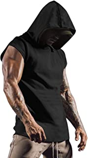 Coofandy Men's Muscle Tank Top Workout Training Shirt with Hoodies