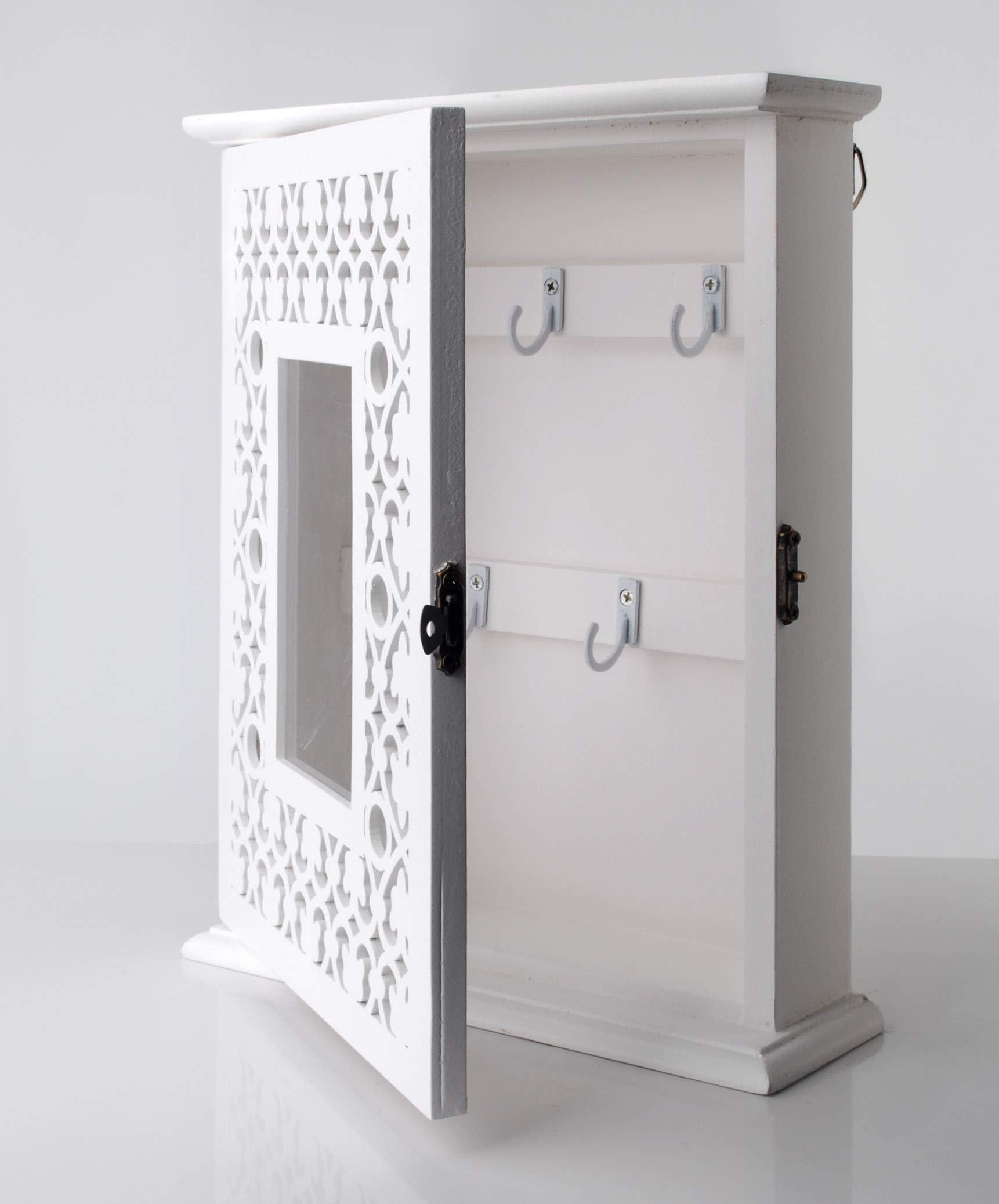 Charming House Colgador de Pared para Llaves, Color Blanco: Amazon.es: Hogar