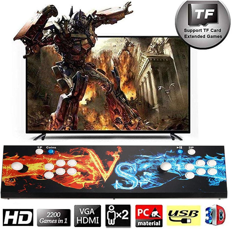3D TV-Spielekonsolen, 2 Spieler, Pandora's Box 1920x1080 Full HD Multiplayer Home Arcade Konsole, 2388 Spiele All in 1 Double Stick Buttons Power HDMI, Modell BZ03