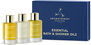 Aromatherapy Associates Essential Bath & Shower Oil Mother's Day Gift Collection (3 Count of 0.3 Fl Oz), 0.9 Fl Oz contain...