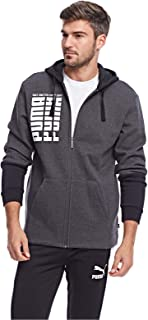 Puma Rebel Up FZ Hoody FL For Men, Size XXL Grey