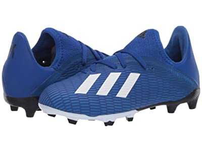 adidas Kids X 19.3 FG J Soccer (Little Kid/Big Kid) (Team Royal Blue/White/Black) Kids Shoes