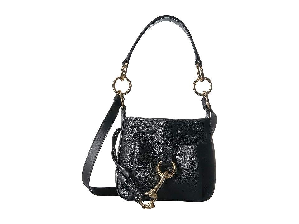 See by Chloe Small Drawstring Leather Crossbody Bag (Black) Handbags