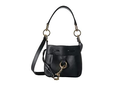 See by Chloe 8 Drawstring Leather Crossbody Bag (Black) Handbags