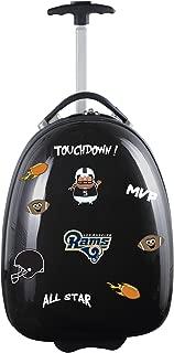 "NFL Kids Lil' Adventurer Luggage Pod - Alternative Colors, Unisex, NFL Los Angeles Rams Kids Lil' Adventurer Luggage Pod, Black, NFLRL601_Black, Black, 18"""