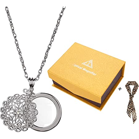 loupe necklace loupe pendant useful gift magnifier necklace Gift for Mom loupe pendant vintage pendant loupe necklace