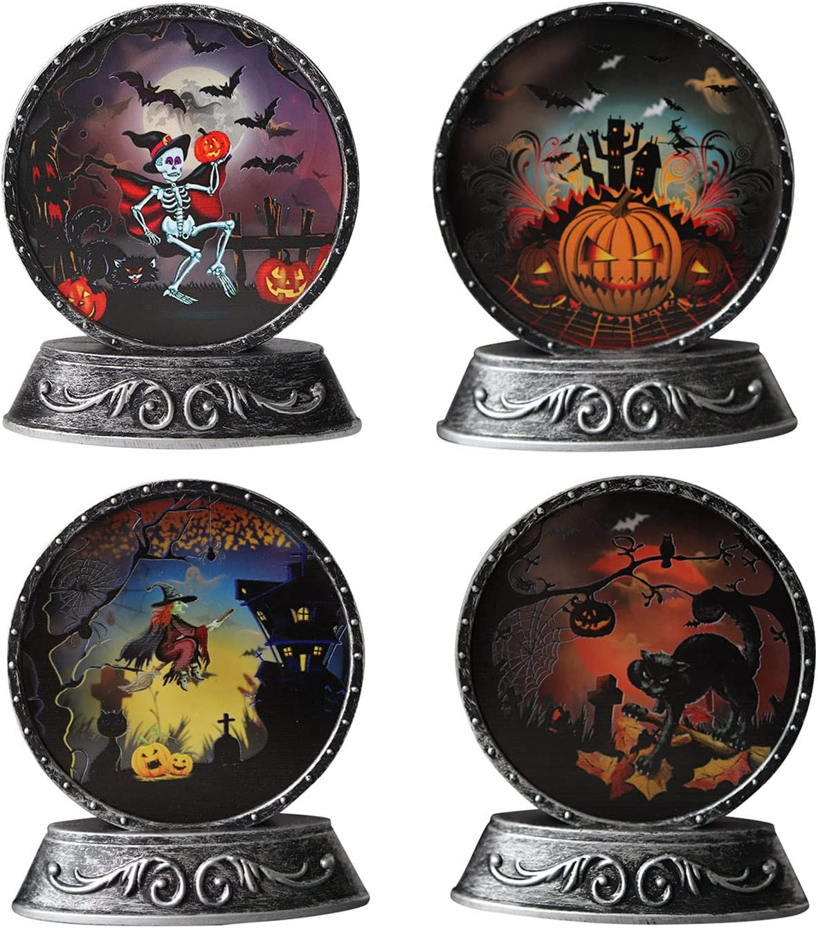 AODY 4pcs Party Decorations Max 86% OFF Light Co Retro Craft Props Special price Halloween