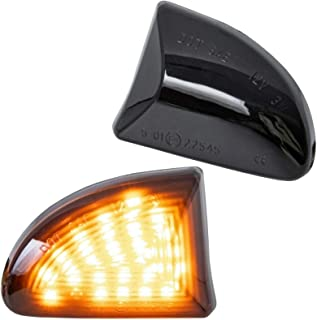 phil trade LED Side Indicator Black Compatible for BMW 7 Series E65 E66 Year of Manufacture 2001-2008 7138-1