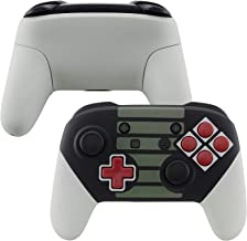 eXtremeRate Soft Touch Faceplate Backplate Handles for Switch Pro Controller, Classic NES Style Replacement Shell Case wit...