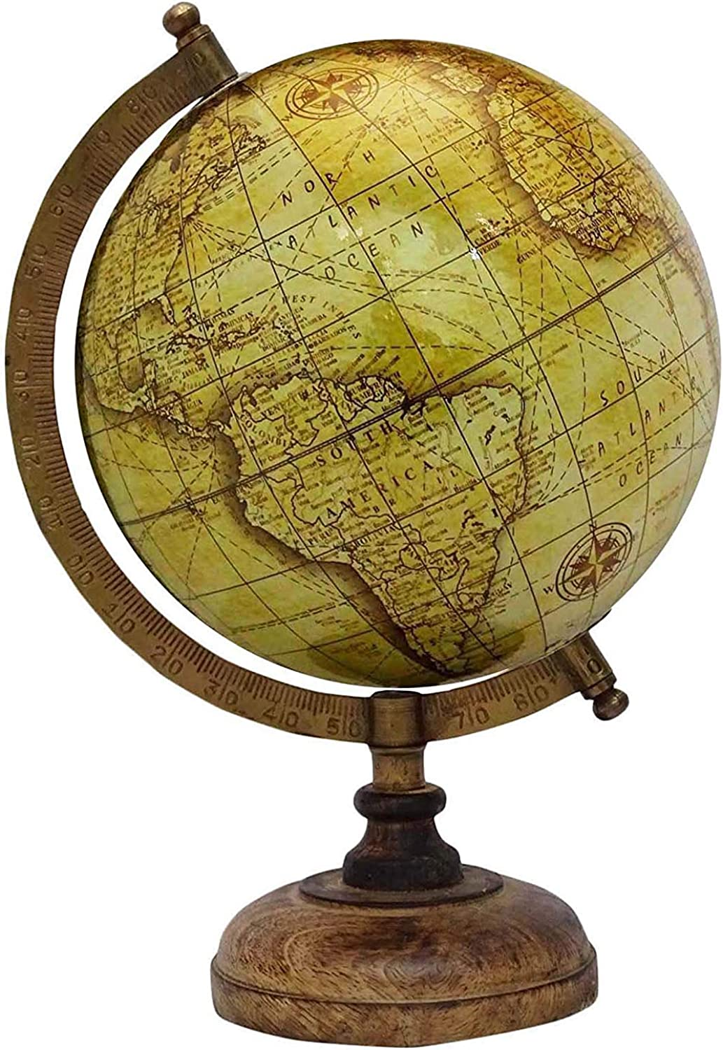 12.5  Desktop redating Globe World Earth Yellow Ocean Geography Table Decor  Perfect for Home, Office & Classroom by Globes Hub