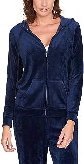 Women Velour Full Zip Sweatshirt Hoodie Jacket