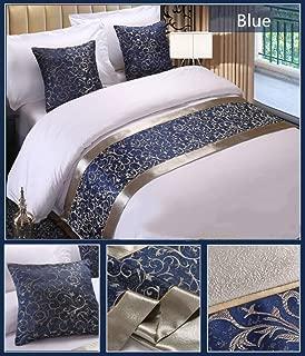 Twelve 2pc Blue Floral Throw Pillowcase Home Hotel Bed Sofa Pillow Sham Cushion Cover Décor