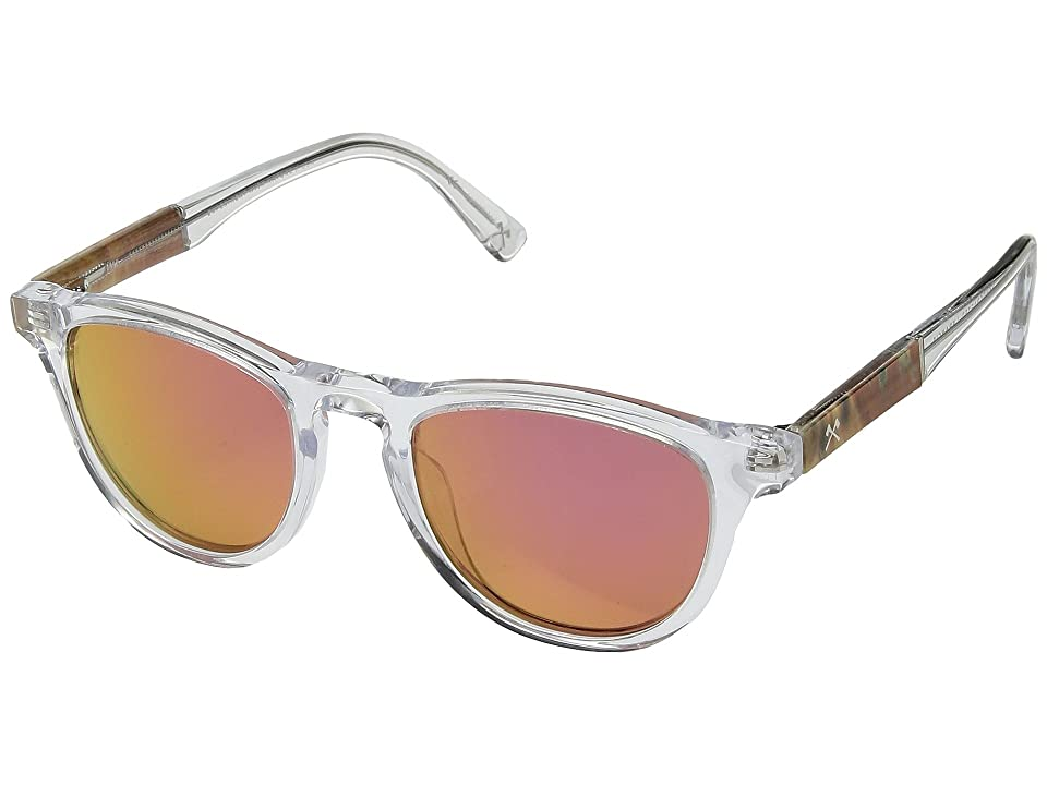 Shwood Francis (Crystal/Shaper Studios Sunset Surf Resin/Rose Flash Polarized) Sport Sunglasses