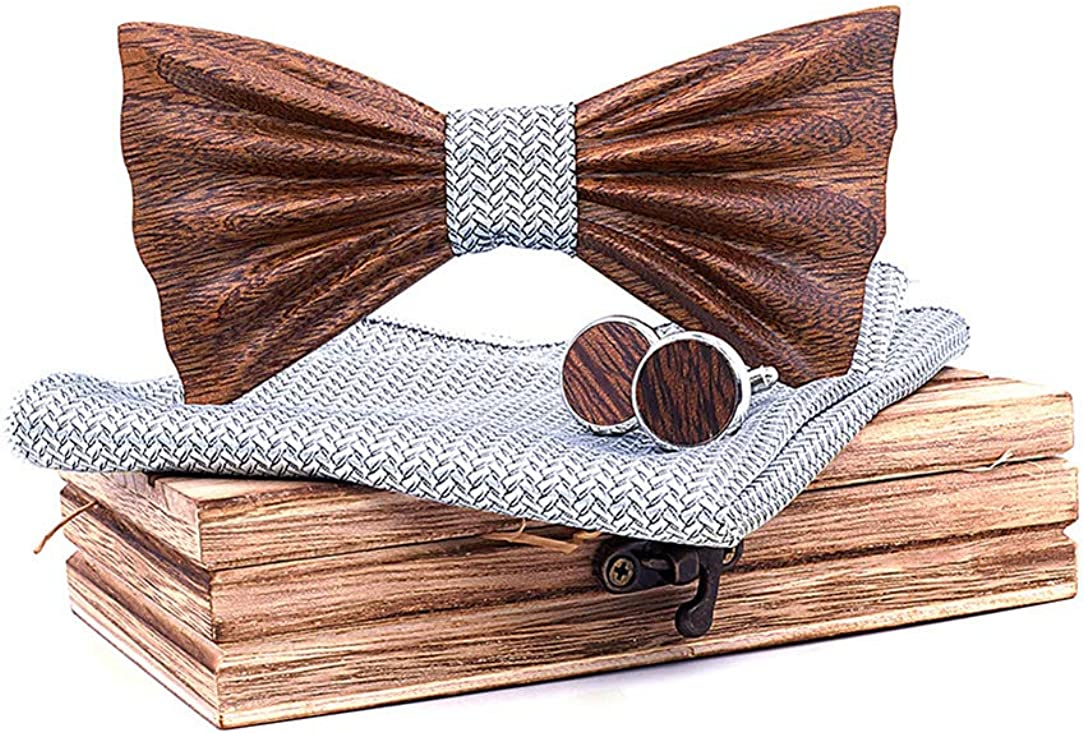 Business Neckties Men Wooden Bow Tie Clothing Fashion Accessory