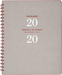 """$27 » AT-A-GLANCE 2020 Weekly & Monthly Planner, 8-1/2"""" x 11"""", Large, Wirebound, Signature Collection, Gray (YP90508)"""