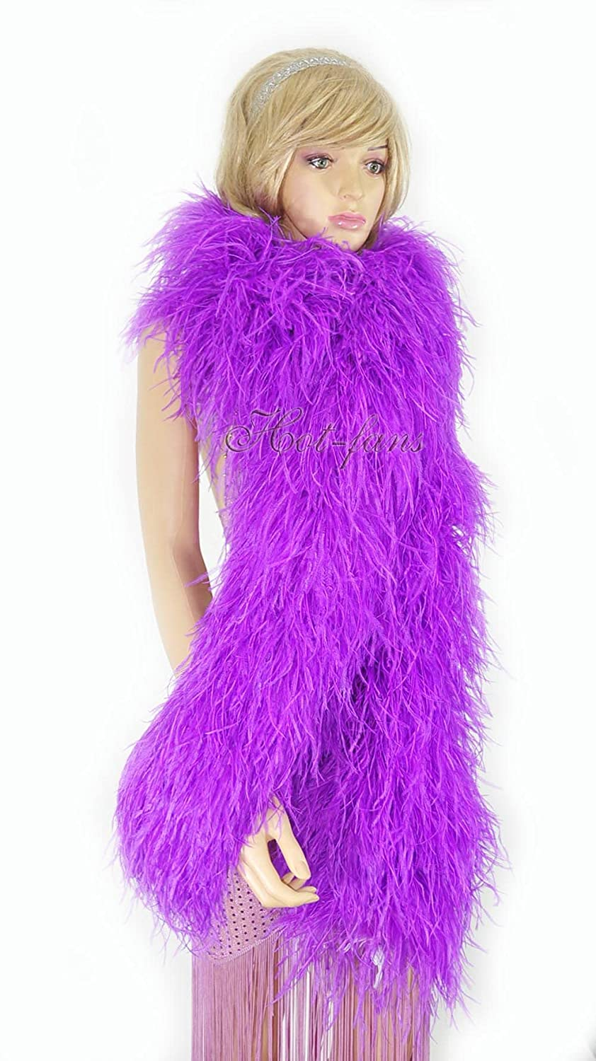 New Free Shipping 20 ply Limited time trial price lavender Luxury Ostrich Boa 71