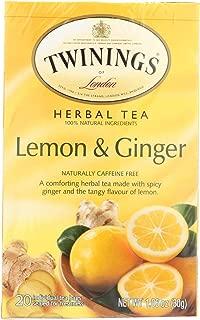 Twinings of London - Herbal Tea Lemon and Ginger - 20 Tea Bags