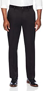 Amazon Brand - BUTTONED DOWN Men's Relaxed Fit Flat Front Dress Chino Pant, Supima Cotton Non-Iron