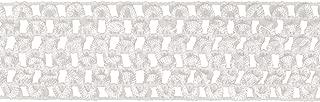 Simplicity 1860587030 White Elastic Band Crochet Machine Washable Stretch Fabric, 10 Yards Long, Multi