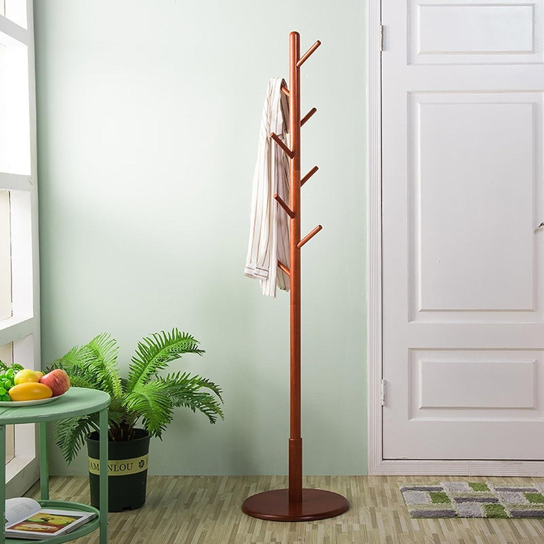 LF Coat Rack Solid Wood Floorstanding Bedroom Removable Roundel Creative Coat Shelf (HeightWidth  172  40cm) White (color   Brown)