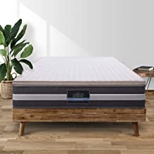 Giselle Bedding Memory Foam Mattress Topper Bed Underlay Cover Queen 7cm