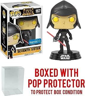 Funko Pop! Star Wars Rebels: Seventh Sister #167 (Walmart Exclusive) Vinyl Figure (Bundled with Pop BOX PROTECTOR CASE)