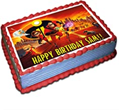 The Incredibles 2 Personalized Cake Toppers Icing Sugar Paper 8.5 x 11.5 Inches Sheet Edible Frosting Photo Birthday Cake Topper (Best Quality Printing)
