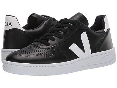 VEJA V-10 (Black/White/White Leather) Athletic Shoes