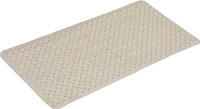 Yellow Weaves Shower Mat (Beige, Polyvinyl Chloride, 38 x 78 cm)