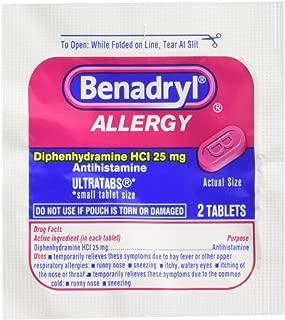 Brand New!! Benadryl 25/2s Display Box 25 Packets of 2 Pills