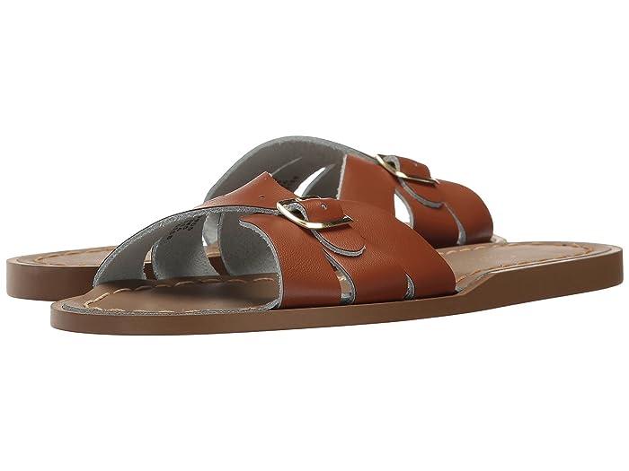 Salt Water Sandal by Hoy Shoes  Classic Slide (Little Kid) (Tan) Girls Shoes