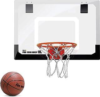 Sklz Basketball Pro Mini Hoop XL. Pro-Grade Backboard, Break-Away Steel Rim And Foam Ball, Multi Color