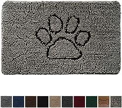Gorilla Grip Original Indoor Durable Chenille Doormat, Large, 36x24, Absorbent, Machine Washable Inside Mats, Low-Profile Rug Doormats Great for Pets, Dogs, Entry, Mud Room, Back Door, Paw Gray