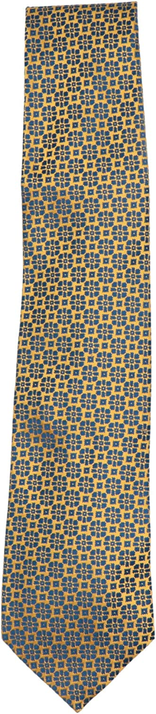 Charvet Men's Silk Geometric Floral Neck Tie Necktie