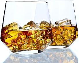 Whiskey Glass Set of 2-14oz, Rocks Glasses Premium , Hand Blown Old Fashioned Glass - Amallino
