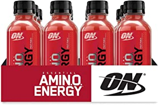 OPTIMUM NUTRITION ESSENTIAL AMINO ENERGY Ready-To-Drink, Fruit Punch, Keto Friendly BCAAs, Preworkout and Essential Amino Acids with Green Tea and Green Coffee Extract, 16 Fl Oz (Pack of 12)