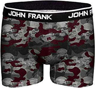 John Frank Men's Khaki Printed Boxer Briefs