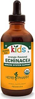 Herb Pharm Kids Certified-Organic Alcohol-Free Echinacea Glycerite Liquid Extract, 4 oz