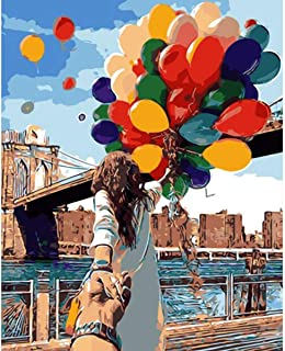 """Framed - Assorted Paint-by-Number Kits for Adults – Balloon Bonanza (Framed) - Includes Brushes, Acrylic Paints and Numbered Canvas - 16"""" x 20"""" – Great for Kids and Adults – by Red Stapler"""