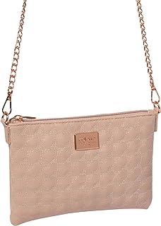 Pink Diamond Quilt Crossbody Bag