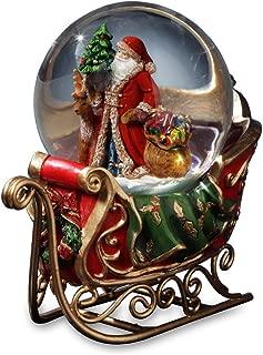 Santa with Reindeer and Sleigh Water Globe San Francisco Music Box Company