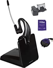 Plantronics CS530 Wireless Headset Bundle with Lifter, Busy Light and Headset Advisor Wipe- Professional Package