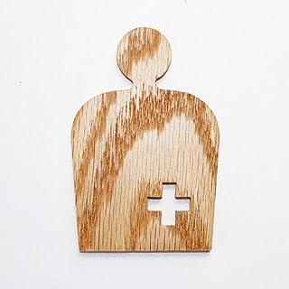 オストメイトマーク P14_ostomate 木製 ドアプレート ドアを開けると森の香りがする! ウッドサイン 「新・森の生活」シリーズ P14