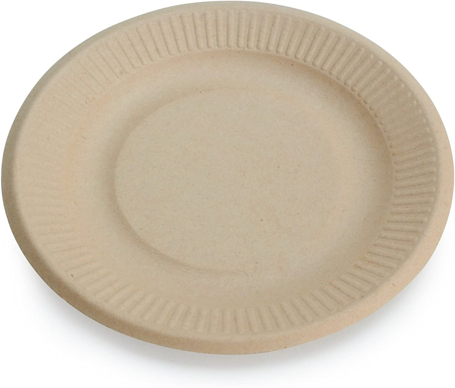 Earth's Natural Alternative Eco-Friendly, Natural Compostable Plant Fiber 6  Plate, Natural, 1000 Count